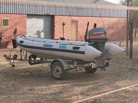 Buccaneer 4.2m rubberduck with 55hp mariner outboard