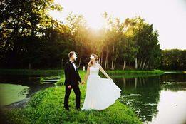 Przepiękna, zwiewna suknia ślubna jedwab+muślin