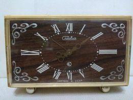 настольные электро механические часы будильник Слава СССР