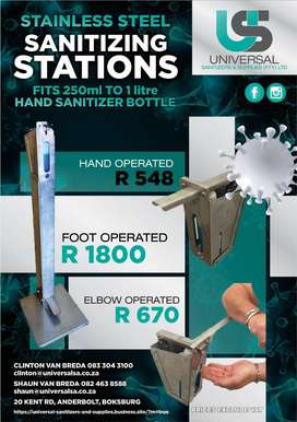 Sanitizer stations Stainless steel
