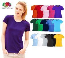 Женские футболки 100% хлопок Fruit of the Loom из Германии