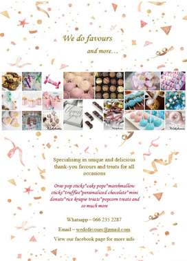 Party favours/wedding favours & treats for all occassions