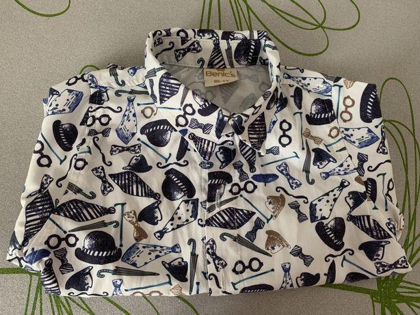 Стильная рубашка для мальчика 1-2 года. Идеальное состояние 300 руб Макеевка - изображение 3