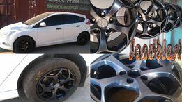 Порошковая покраска дисков, авто-, мото-, вело-деталей в Харькове