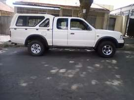 2005 Ford Ranger, 110,000km, double cab with canopy, manual, diesel