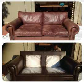 Leather redye and conditioning services