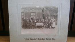 Stara duża fotografia Oryginał 1912r.