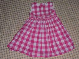 Dziewczęca sukienka w kratkę