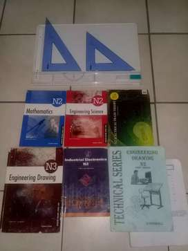 A3 drawing board and text books