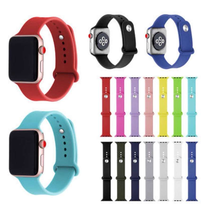 Quality silicone straps for Apple watch 0