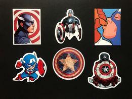 Набор стикеров (стикеры) наклейки Капитан Америка супергерои MARVEL