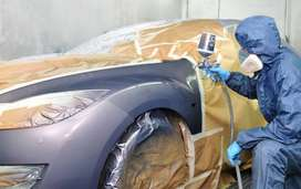 Car painting service is available