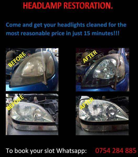 Head Light Restoration. (Cleaning) 0