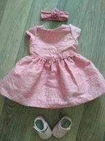 Платье и туфельки для принцессы 6-9м.