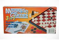 3 in 1 Magnetic Chess Checkers And Card Game 0