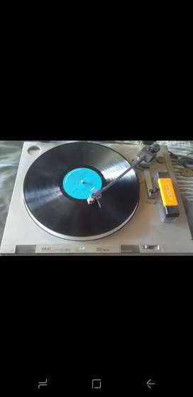 Record player+records