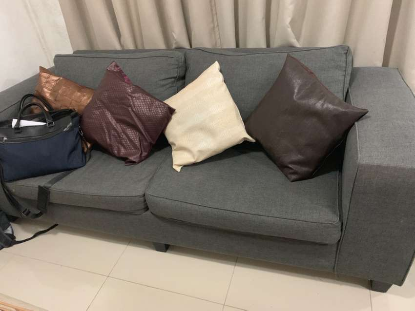 Grey Coricraft 4 seater couch 0