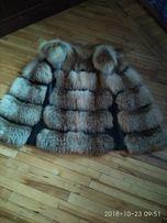 Меховая жилетка с лисички .