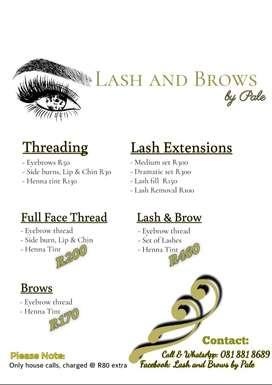 Lash and brows by Pale