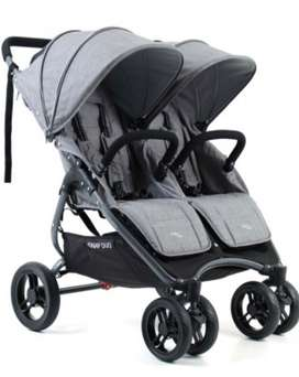 Imported extremely lightweight Valco snap duo twin pram