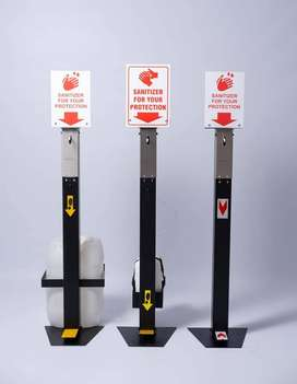 Sanitising Footpump Stands