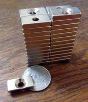 Супермагнит магнит неодимовый 20 х 10 х 4 мм ранг N 52 NdFeB