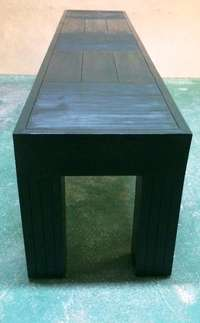 Image of Patio bench Chunky Farmhouse series 1900 - Ebony stained