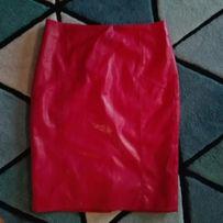 Spodnica ecoskóra 42 święta czerwona orsey