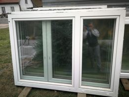 Duże okno okna PCV 190x140 2 skrzydłowe, oba uchylne balkonowe