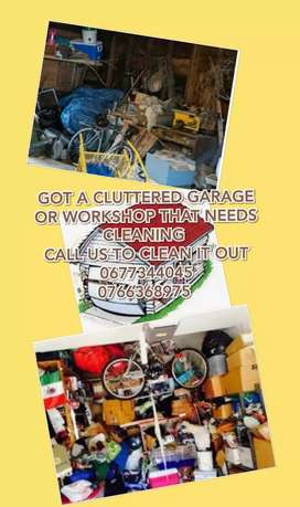 Clean out Cluttered Garages and Workshops