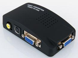 Конвертер из AV(RCA тюльпан, S-Video)->VGA tv->vga (AV->монитор)av2vga