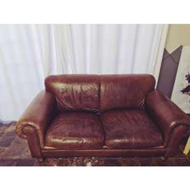 2 Seater Couch genuine leather (Coricraft)