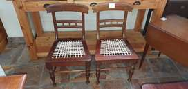 2 x 19thC Stinkwood Riempie Chairs EACH