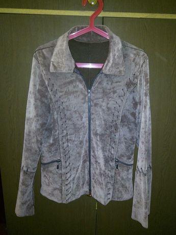 Курточка замш на флисе. Запорожье - изображение 1