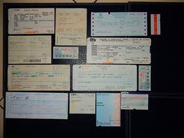 Duży zestaw biletów kolejowych - Azja + Europa - zestaw 2