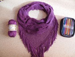 Шаль снуд бактус шарф накидка платок