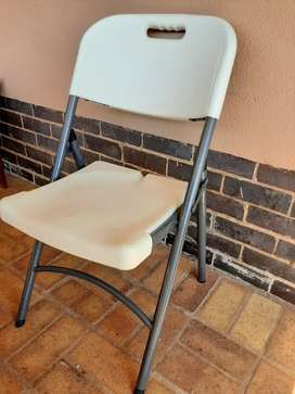 Chairs white resin foldable