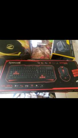 Red dragon Vajra Keyboard and mouse combo