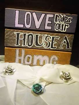 100% Hand made & painted wooden decorative board