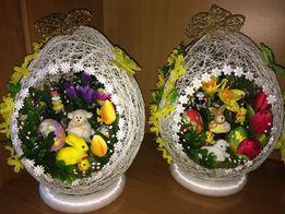 Jajko wielkanocne DUŻE , stroik wielkanocny 32-34 cm