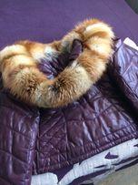 Кожаная зимняя куртка, пуховик