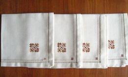 Набор из четырех салфеток, ткань для вышивки, канва, 42*42 см