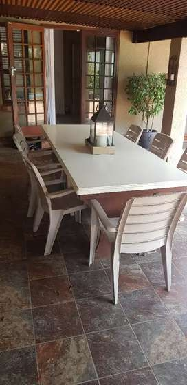 Large Meranti wood table