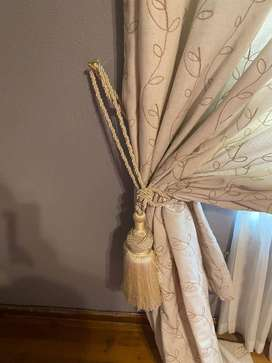 Padded Palmet, and lined curtains for