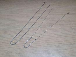 Dwa srebrne łańcuszki