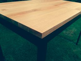 Stół rozkładany 180-240x85 Lity Dąb Loft Industrialny Minimalistyczny