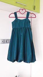 Нарядное изумрудное платье H&M 8-10лет