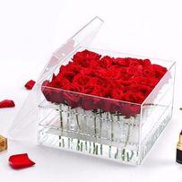 Акриловые коробки для цветов - Шляпная коробка на 9, 15 и 25 роз