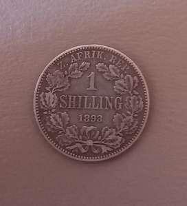 1893 ZAR 1 SHILLINGS - VERY HIGH VALUED COIN