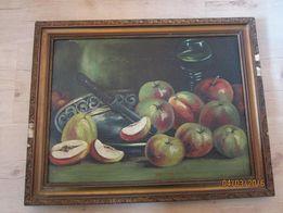 Obraz olejny, płótno, przedwojenny, Martwa natura